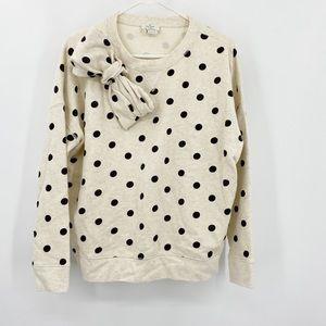 Kate Spade Polka Dot Bow Sweater Small